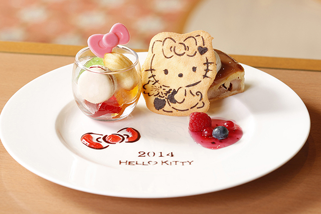 where to stay in Tokyo with kids- hello kitty hotel - food