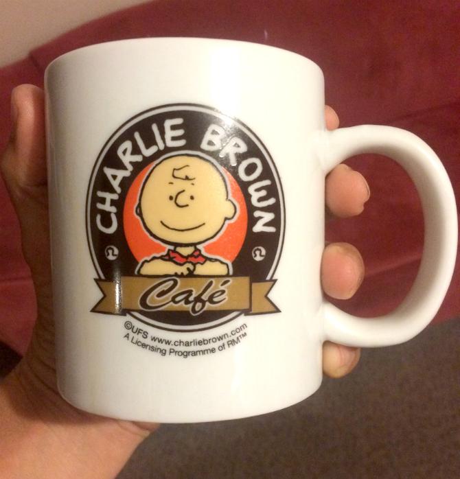 charlie brown cafe hong kong mug