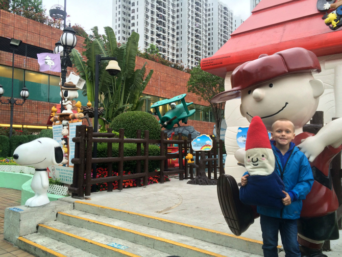snoopy theme park entrance ned