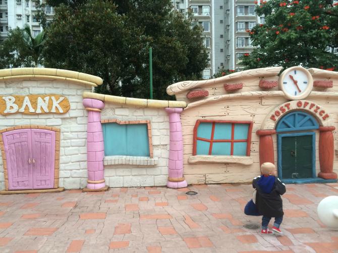 snoopy theme park mini town