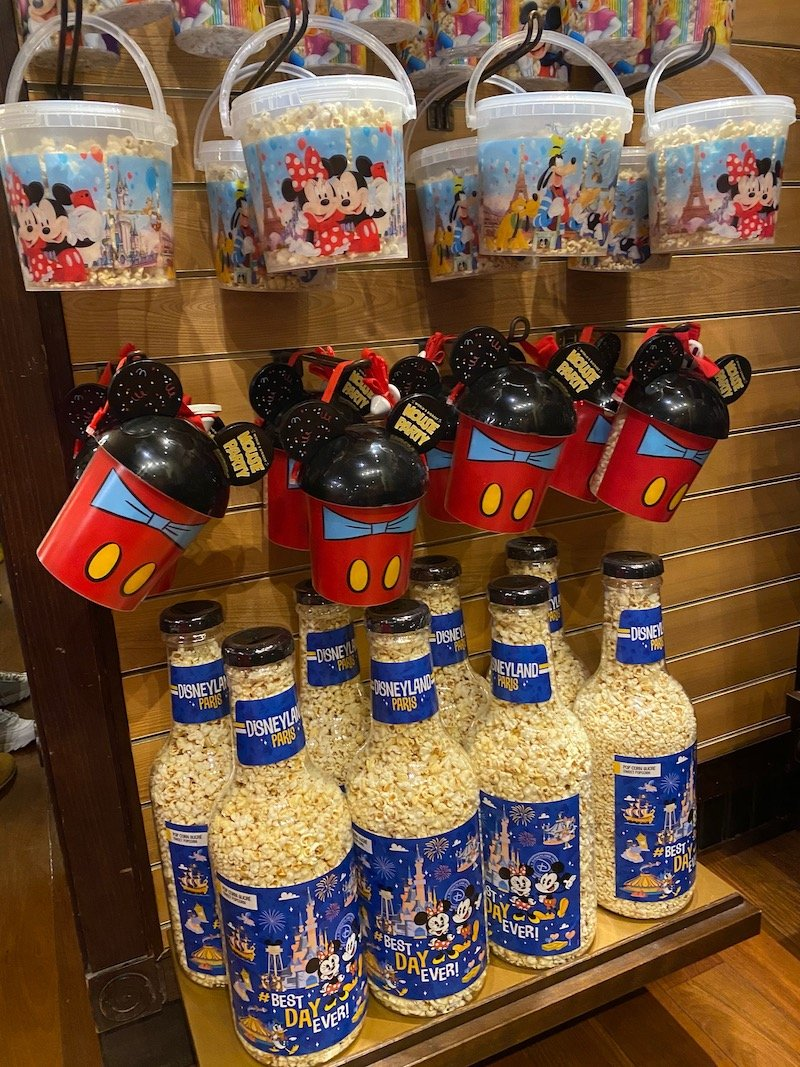 save money for disney trinkets and souvenirs - popcorn buckets