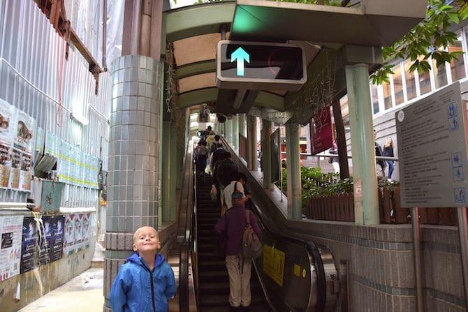 hong kong escalator street direction up