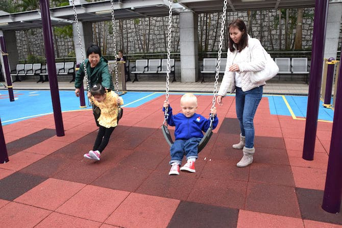public playgrounds in hong kong middle park swings