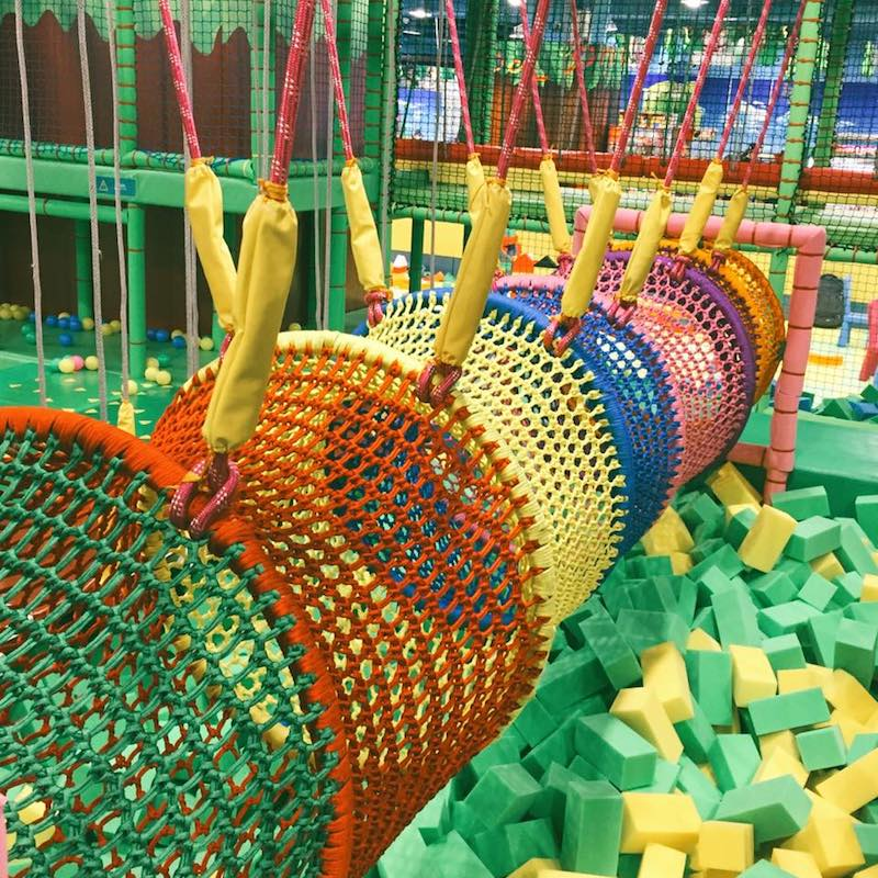 climbing nets at jumping gym via fb