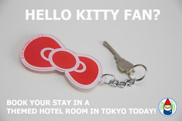 where to stay in Tokyo with kids? Book your stay in a Hello Kitty themed room in Tokyo. Details in link. Visit www.roamthegnome.com for SUPER DOOPER FUN ideas for family-friendly travel and weekend adventures all over the world. Search by city. Rated by kids and our travelling gnome.