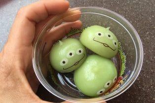 little green men mochi at tokyo disneysea