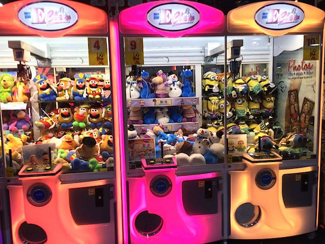 Namco Funscape London claw machines