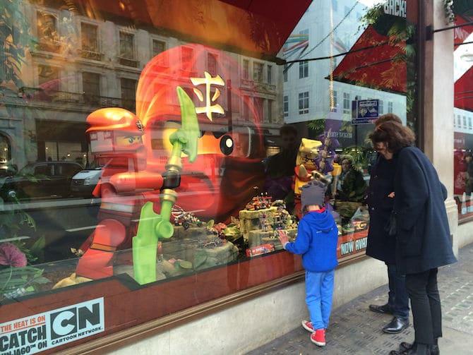 best toy store in london hamleys window