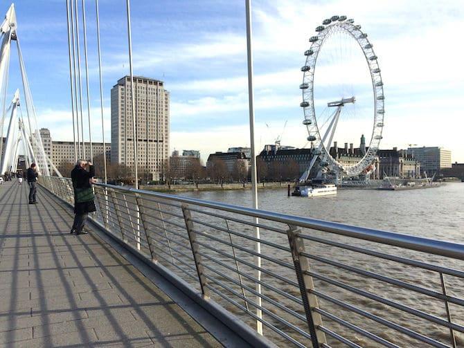 london eye experience - view from bridge