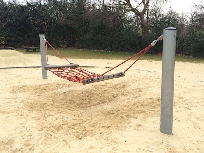 marylebone green playground hammock swing