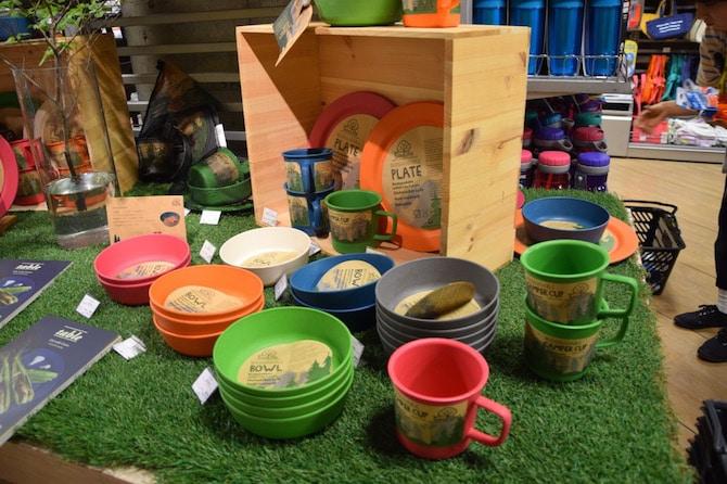 muji shibuya playroom recycled plastic cups- eco soulife byron bay