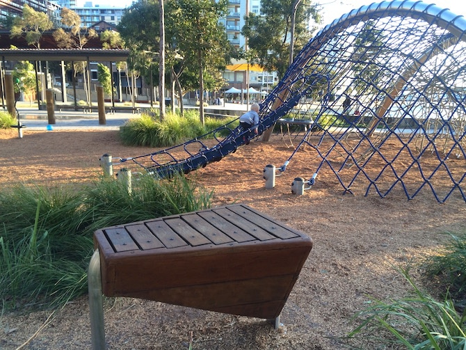 pyrmont playground music and nets pic