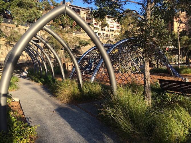 pirrama park playground tunnels