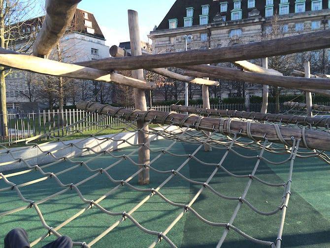 Jubilee adventure playground near London Eye - nets to climb