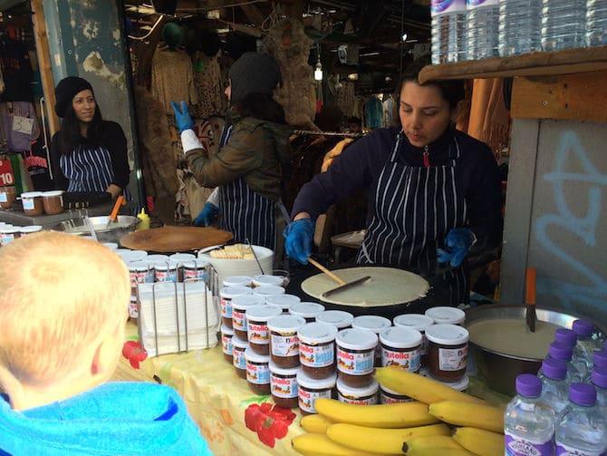 portobello market food in london