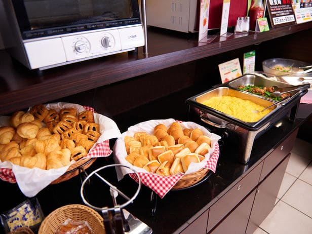 Super Hotel Shinjuku Kabukicho breakfast dishes