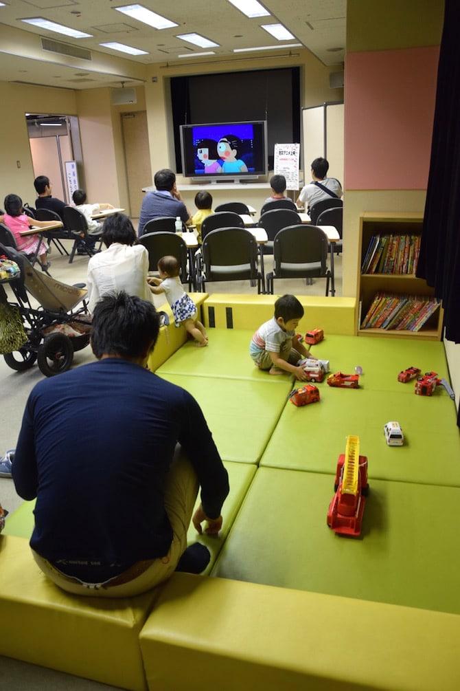 tokyo fire museum video room