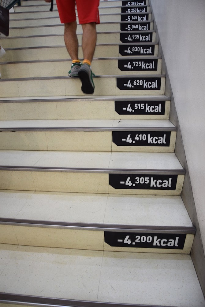 tokyu hands sunshine city calorie stairs