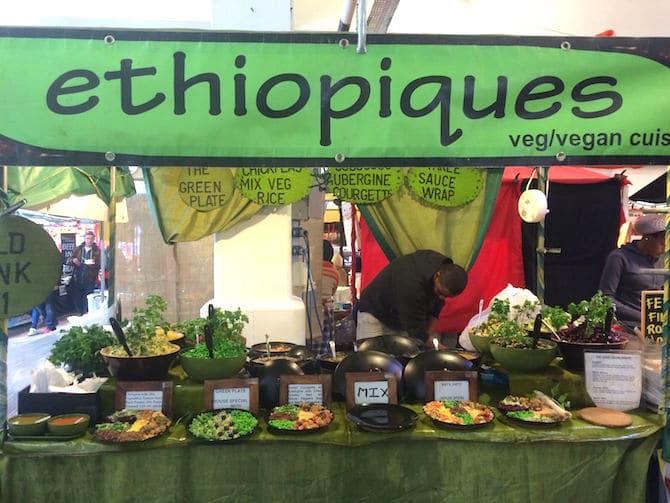 brick lane food market sunday ethio