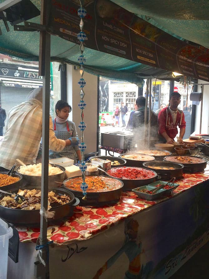 brick lane food market sunday paella