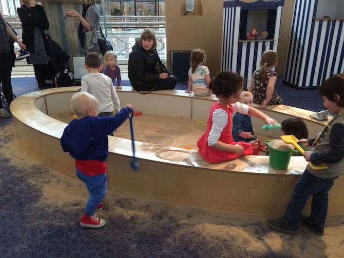 museum of childhood london review indoor sandpit