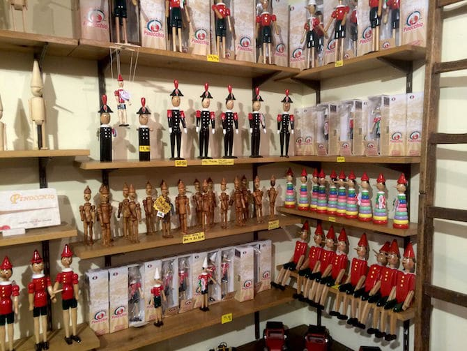 Pinocchio souvenirs and gifts
