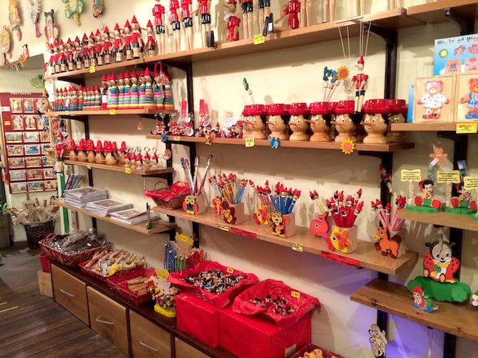 Pinocchio gifts from Rome