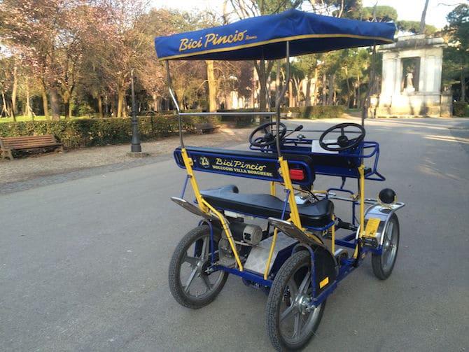 Rome Villa Borghese- Our Pedal Car pic