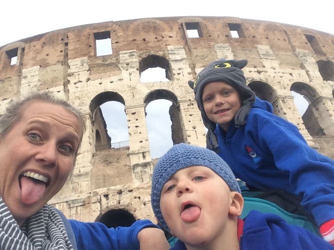 rome colosseum with kids