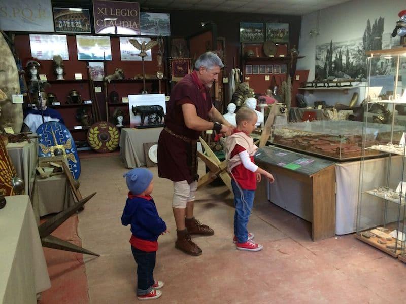 gladiator tour rome for kids - gladiator training school in rome