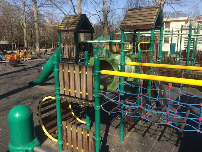 Jardin du Luxembourg Playground climbing frame.