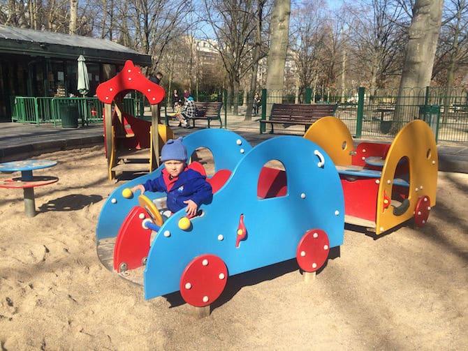 former Jardin du Luxembourg Playground sandpit.