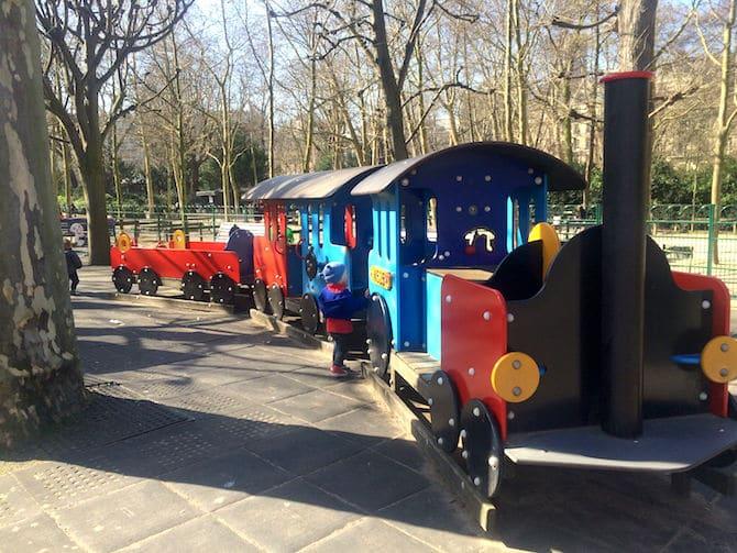 Jardin du Luxembourg Playground train.