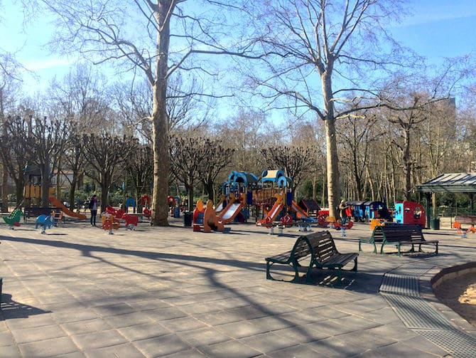 Jardin du Luxembourg Playground open space.
