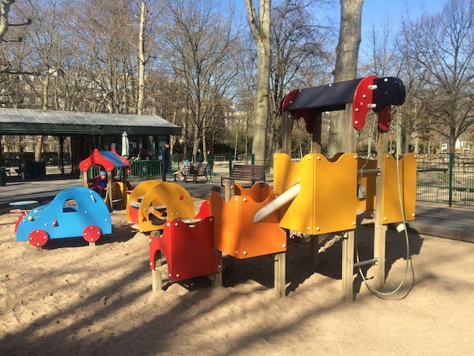 old Jardin du Luxembourg Playground play area.