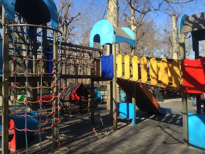 Jardin du Luxembourg Playground ropes.