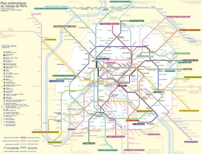 Paris Metro. Ride the Tube in Paris metro with stroller