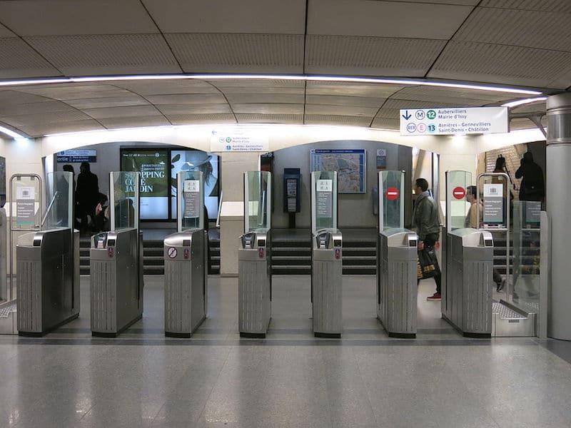 paris metro turnstiles pic