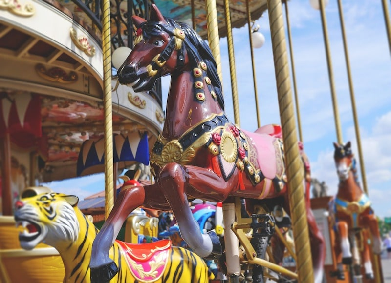 paris with children - carousel ride pic