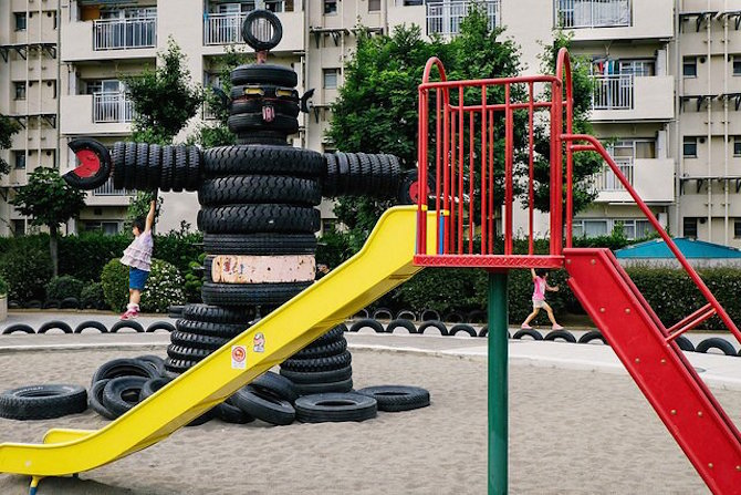 Visit This One Of A Kind Crazy Tyre Playground In Tokyo And See