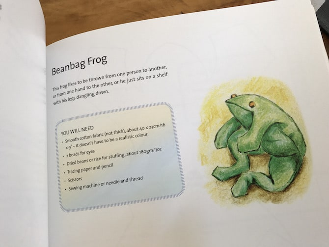 beanbag frog craft