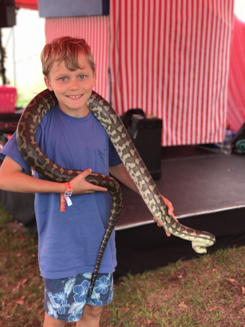 oktoberfest brisbane snake show