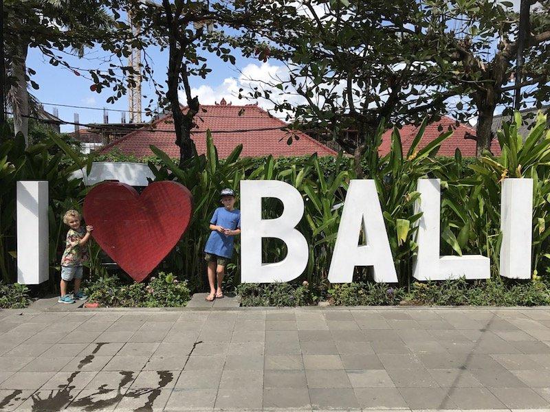 I love bali sign at seminyak market pic