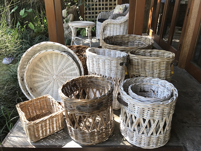 Roam the Gnome Family Travel Directory - Visit CARGA Homewares in Bali for cane basketry