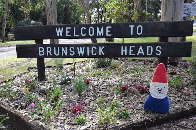 brunswick heads welcome sign nsw australia pic