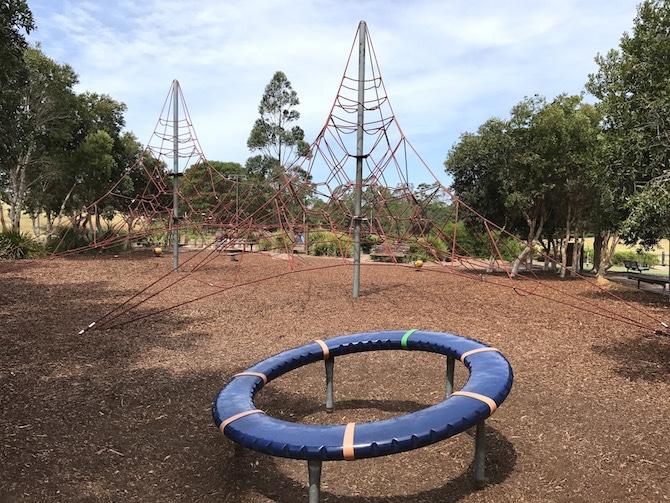 Sydney Park Playground swings pic