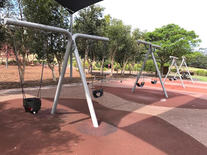 Sydney Park Playground bridge pic