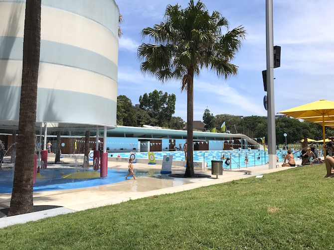 Roam the Gnome Family Travel Directory - Prince Alfred Park Pool view