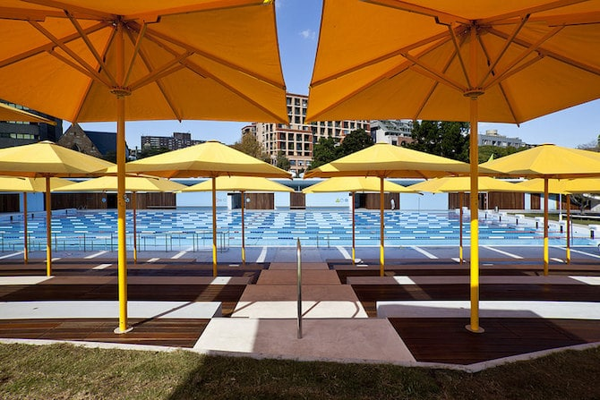 Roam the Gnome Family Travel Directory - Prince Alfred Park Pool Umbrellas