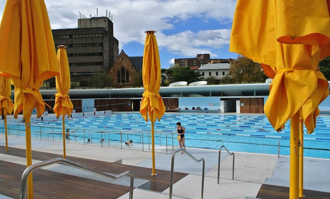Roam the Gnome Family Travel Directory - Prince Alfred Park Pool Umbrellas for shade